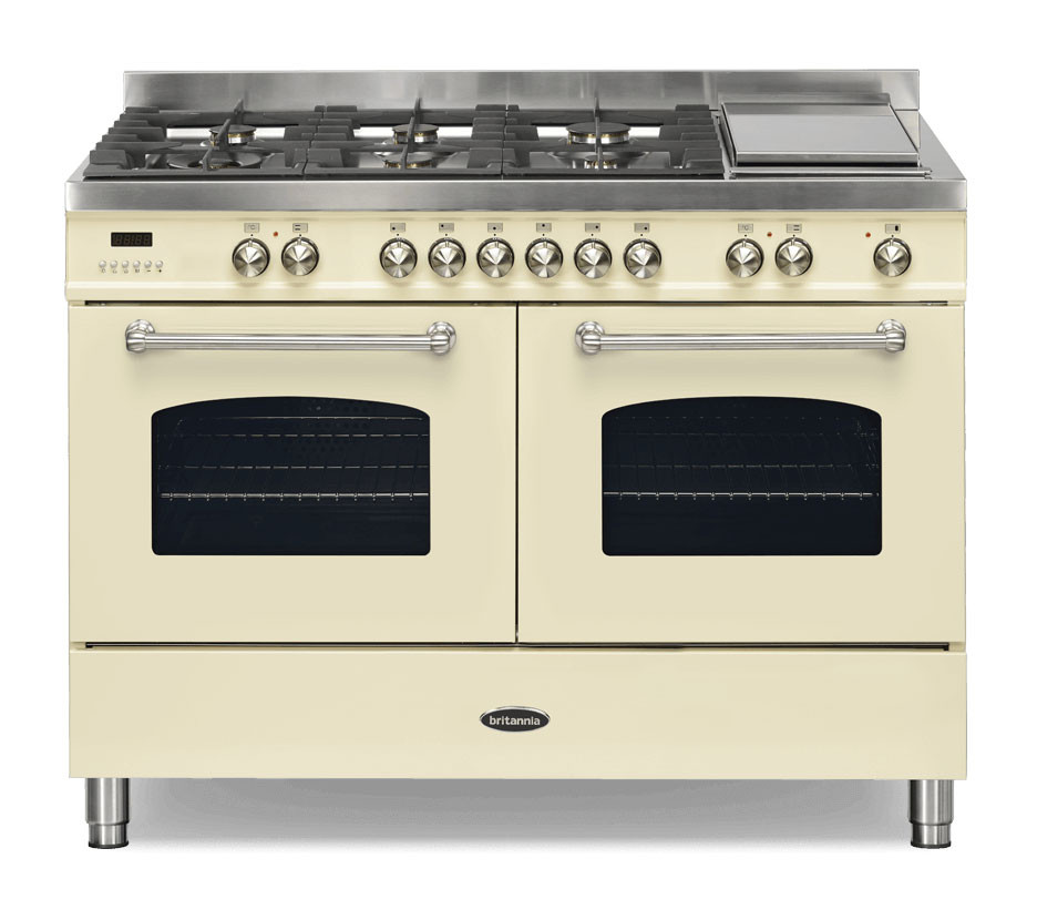 Britannia Fleet 120 - 6 Dual Fuel Burners Cream Range Cooker
