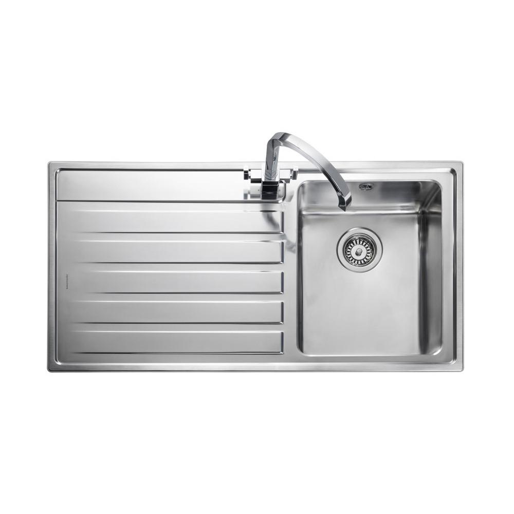 Rangemaster Rockford RK9851L/ Single Bowl Stainless Steel Sink Left