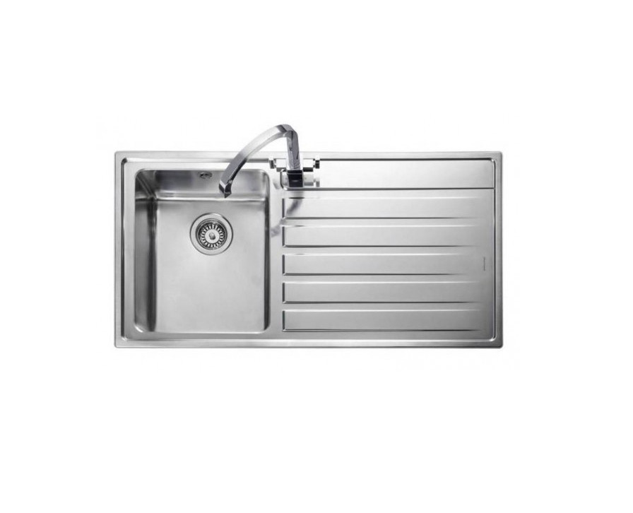 Rangemaster Rockford RK9851R/ Single Bowl Stainless Steel Sink Right