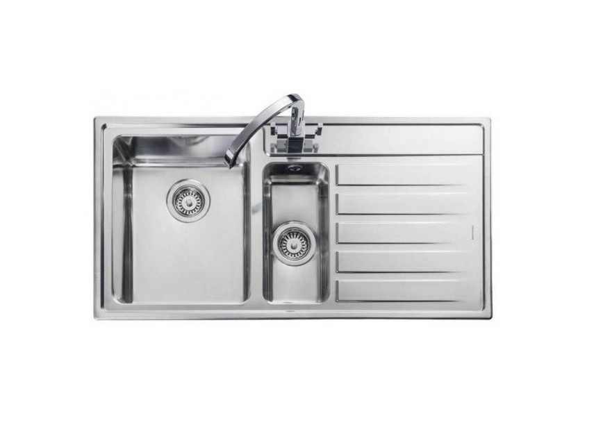 Rangemaster Rockford RK9852R/ 1.5 Bowl Stainless Steel Sink Right