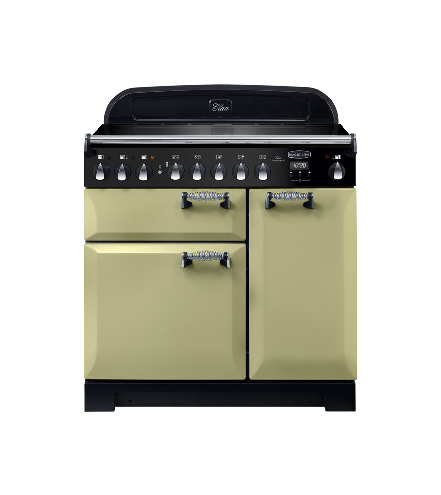Rangemaster Elan Deluxe 90 Induction Olive Green Range Cooker ELA90EIOG/ 118440