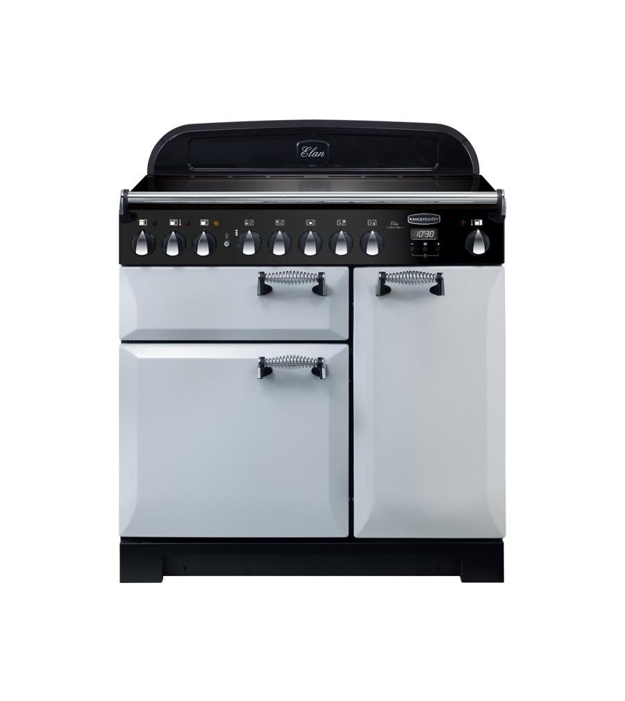 Rangemaster Elan Deluxe 90 Induction Royal Pearl Range Cooker ELA90EIRP/ 118420