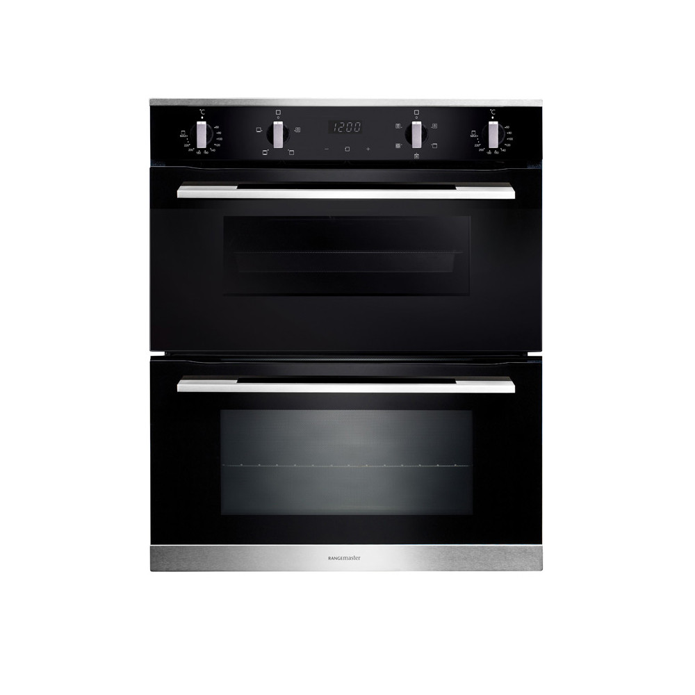 Rangemaster 72cm Built-Under 4/5 Functions Double Oven RMB7245BL/SS 112170