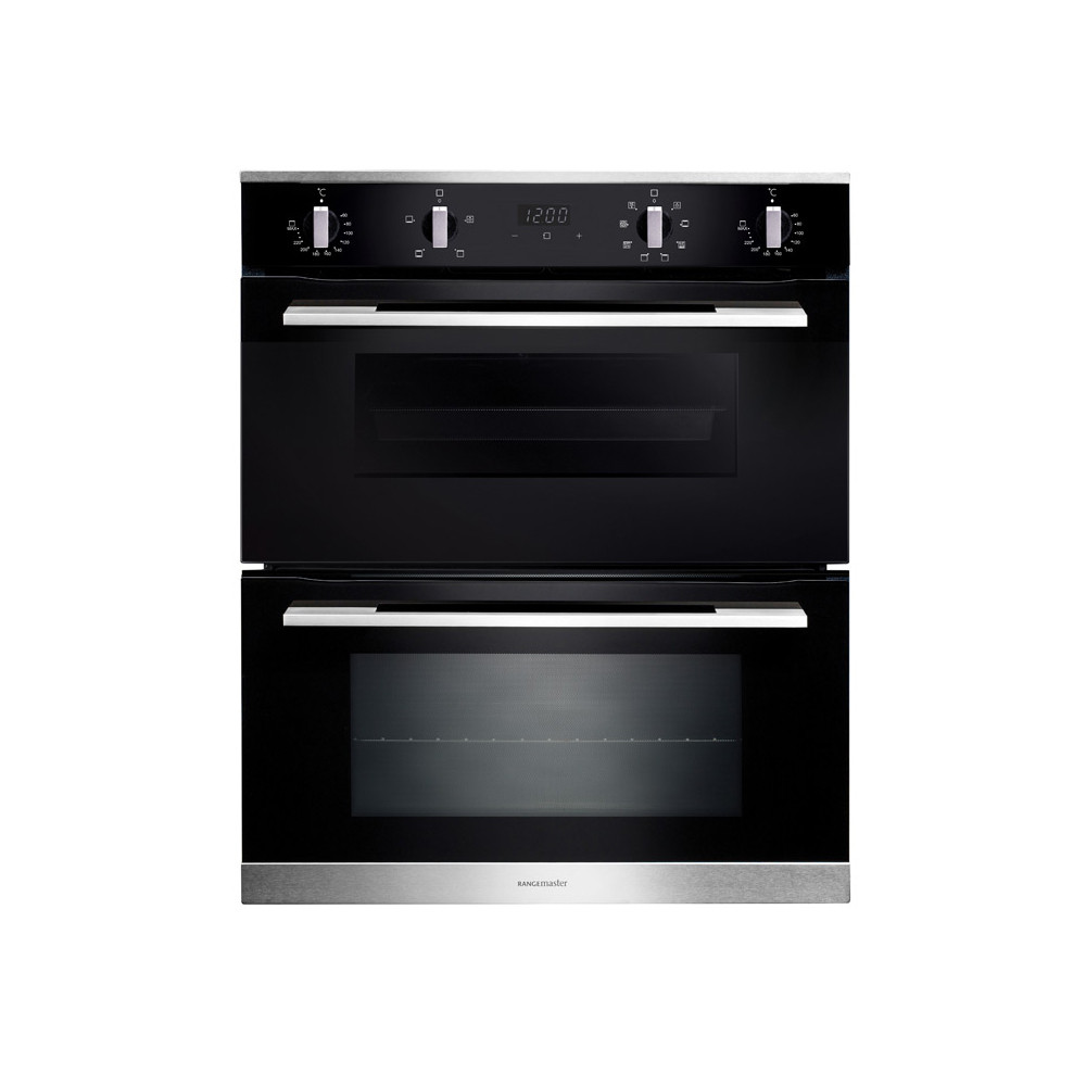 Rangemaster 72cm Built-Under 4/8 Functions Double Oven RMB7248BL/SS 112180