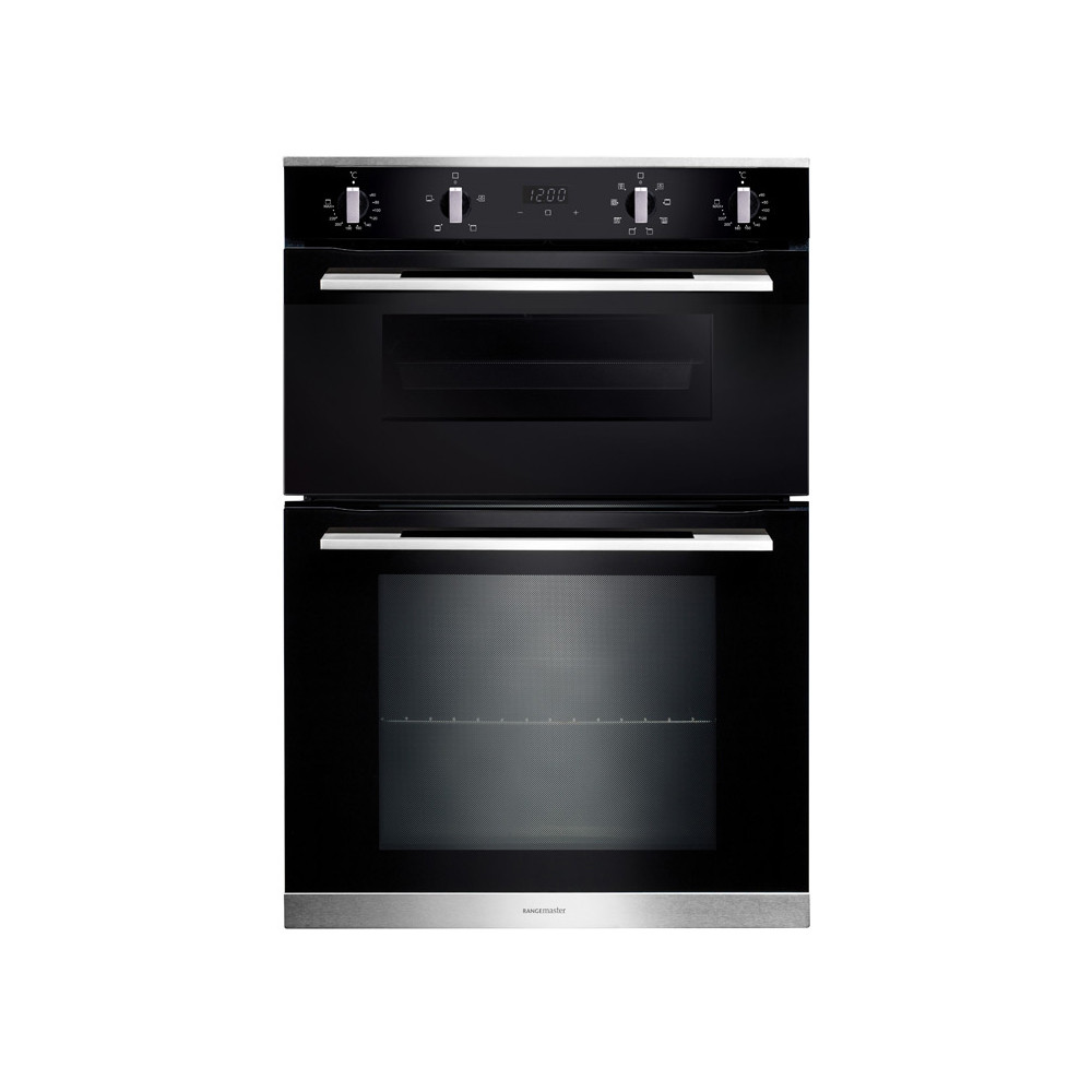 Rangemaster 90cm Built-In 4/8 Functions Double Oven RMB9048BL/SS 112200