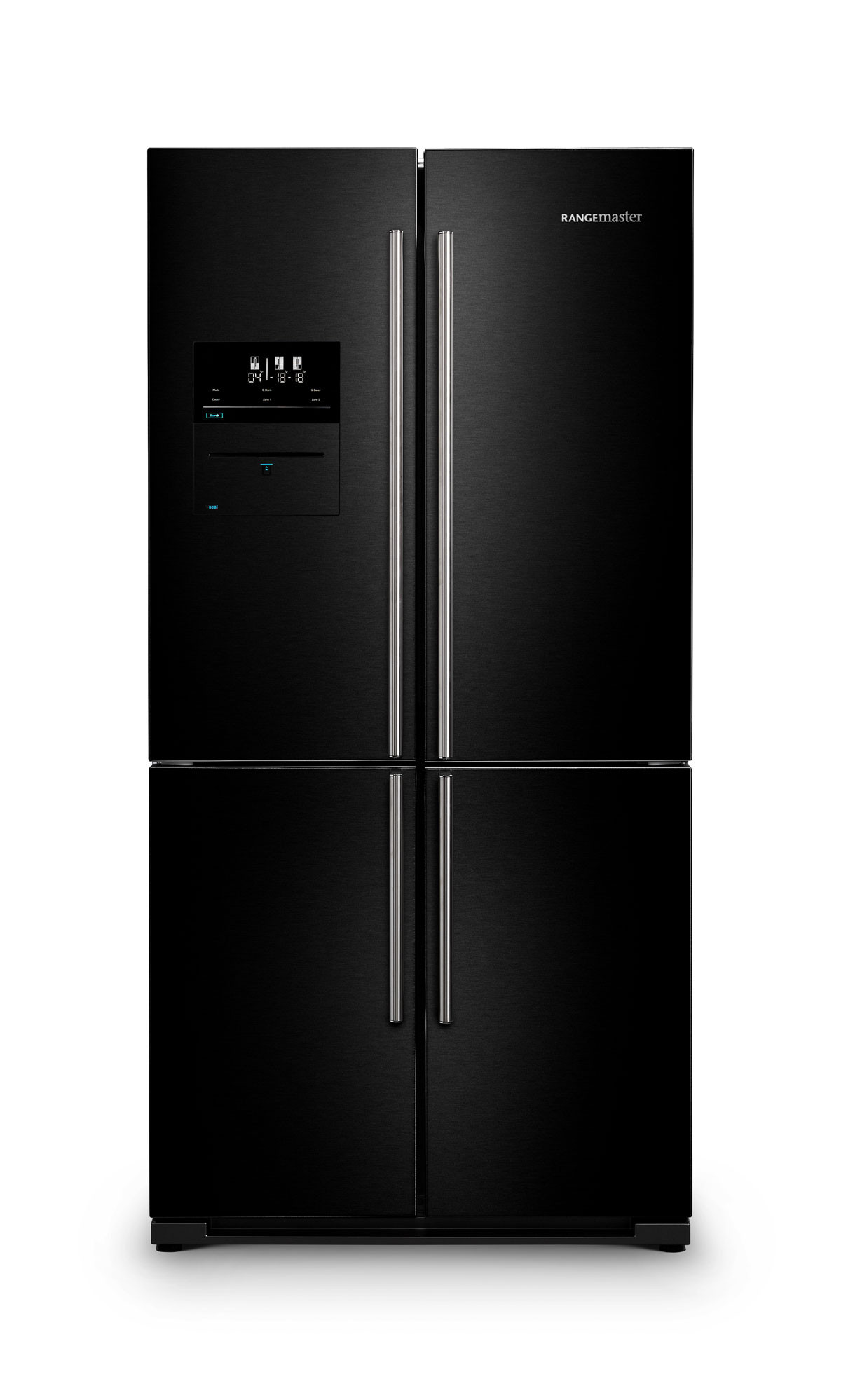 Rangemaster SXS Deluxe 556 Litre A+ Rated Black Fridge Freezer RSXS19BL/C