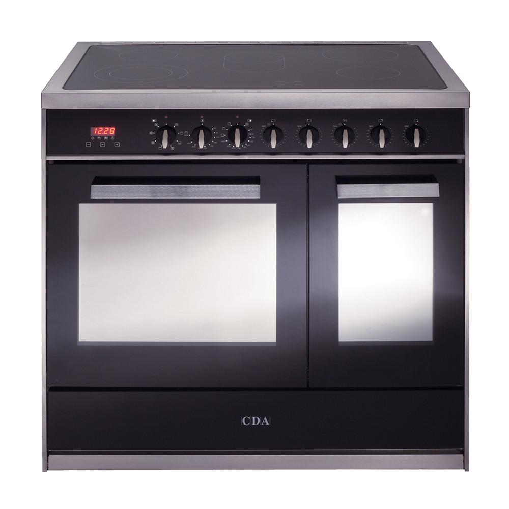 CDA 90 ceramic fuel twin cavity range cooker
