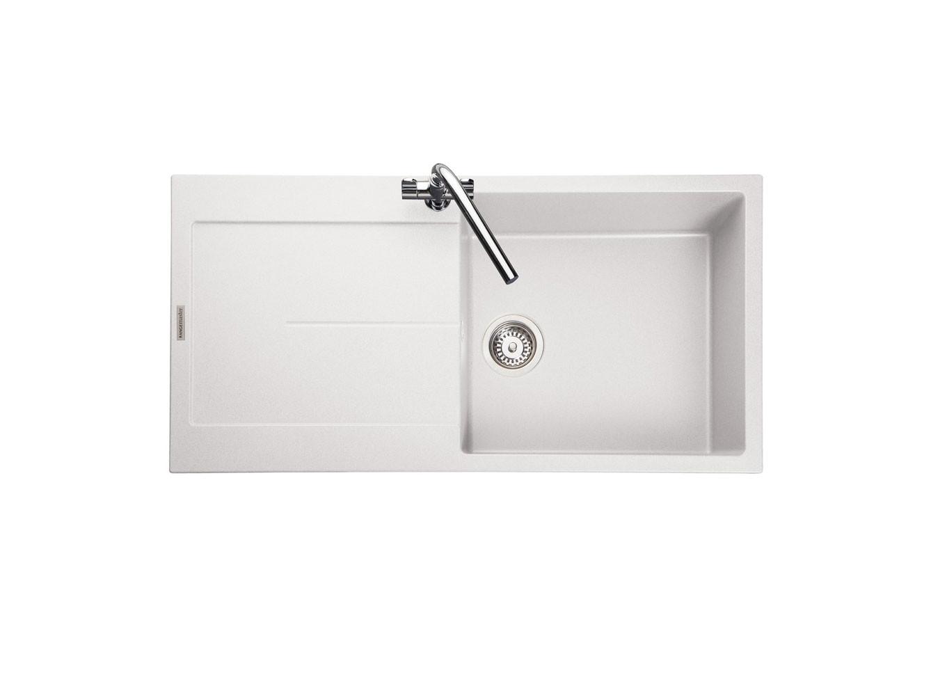 Rangemaster Scoria Igneous SCO1051CW Crystal White Granite Sink