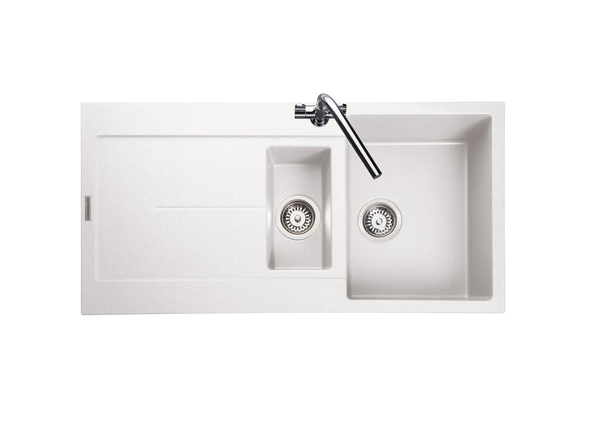 Rangemaster Scoria Igneous SCO1052CW Crystal White Granite Sink