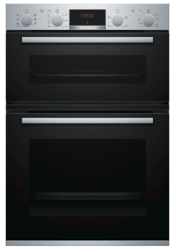 Bosch Serie 6 Built In Brushed Steel Double Oven MBA5350S0B