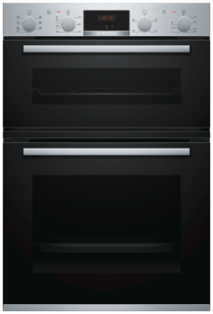 Bosch Serie 4 Built In Brushed Steel Double Oven MBS533BS0B