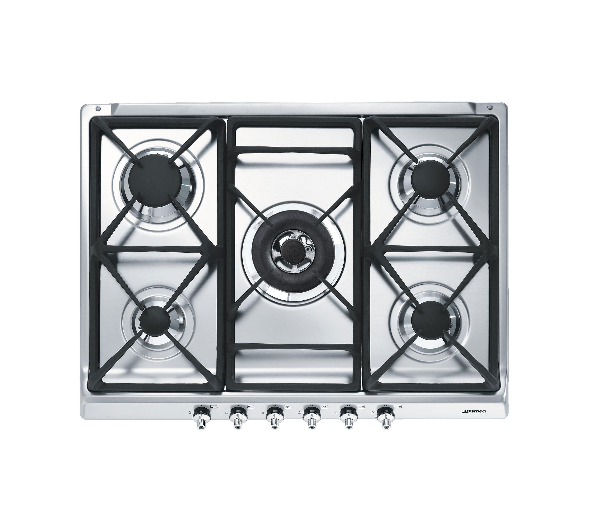 Smeg Classic 70 Stainless Steel Gas Hob