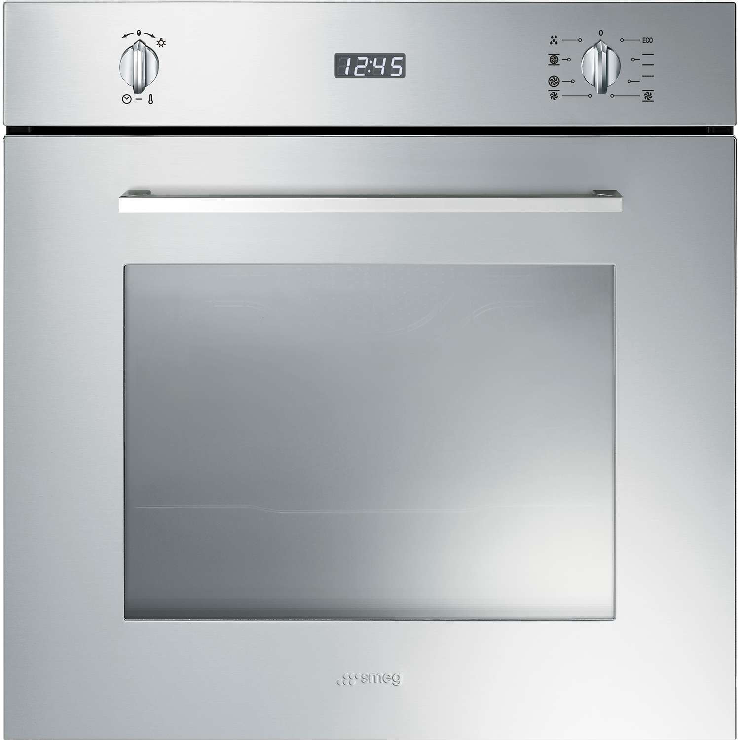 Buy Smeg Cucina Built-In Pyrolytic 60cm Stainless Steel Single Oven ...