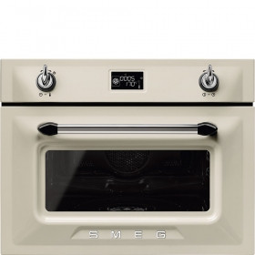 Smeg Victoria 60cm Cream Compact Combination Steam Oven SF4920VCP1