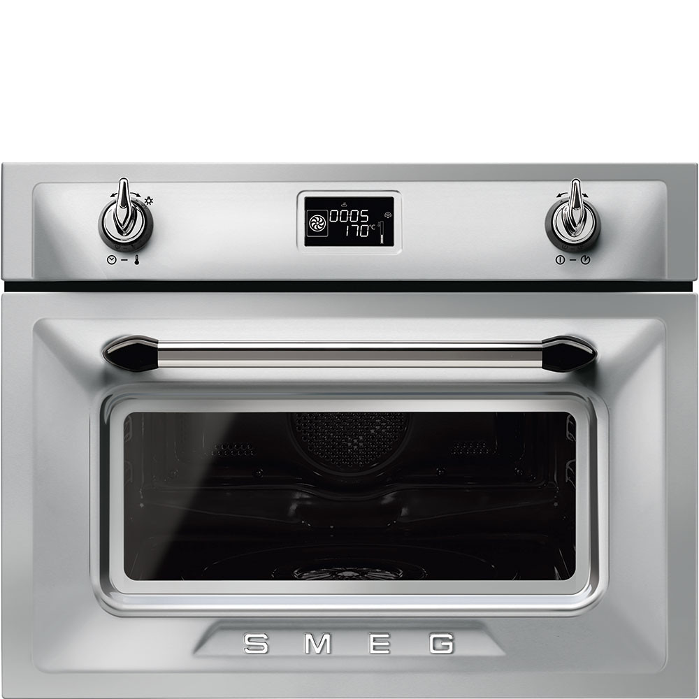 Smeg Victoria 60cm Stainless Steel Compact Combination Steam Oven SF4920VCX1