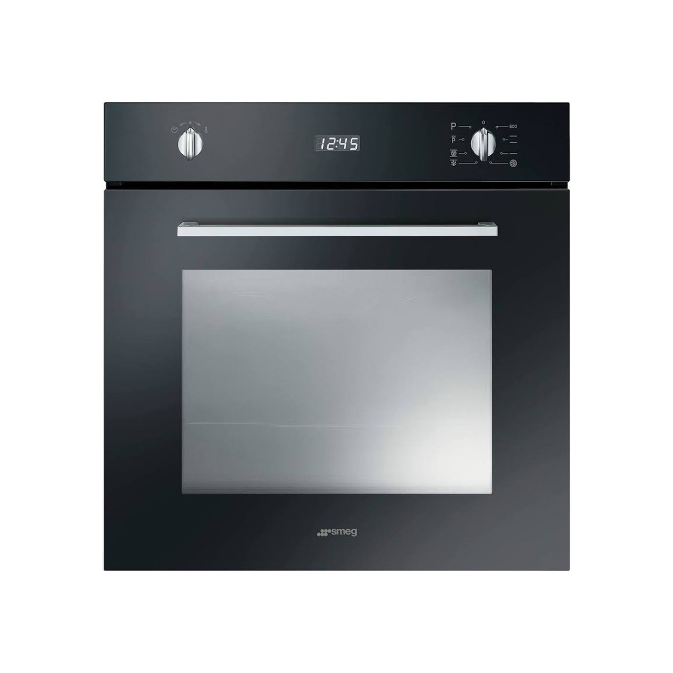 Buy smeg cucina built in pyrolytic 60cm black single oven for Cucina smeg