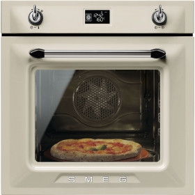 Smeg Victoria Built-In Pyrolytic 60 Cream Multifunction Oven SFP6925PPZE1