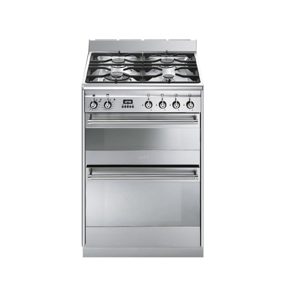 Smeg Concert 60 Dual Fuel Stainless Steel Range Cooker