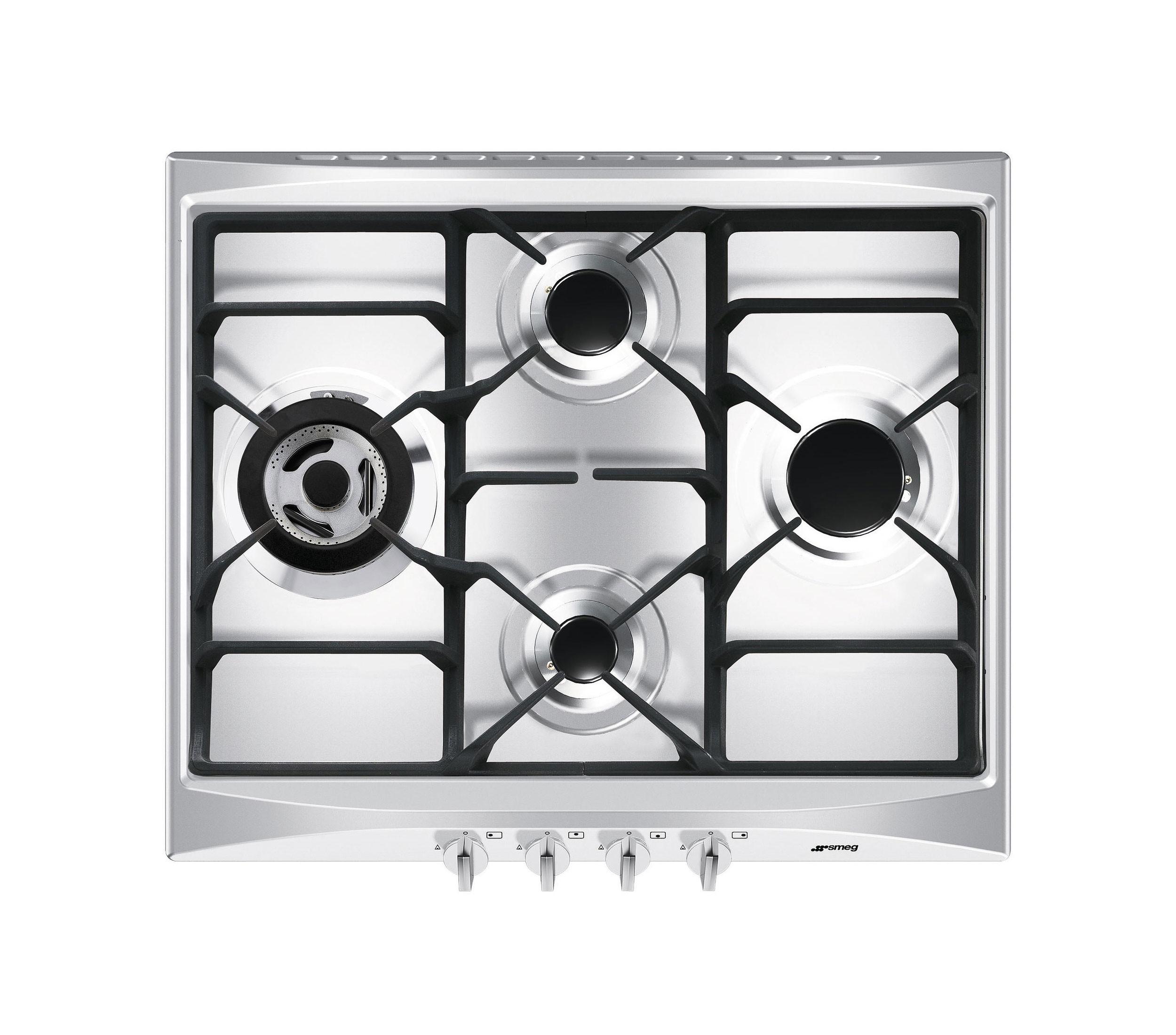 Buy smeg sr264xgh cucina 60cm stainless steel gas hob sr264xgh - Smeg cucina gas ...