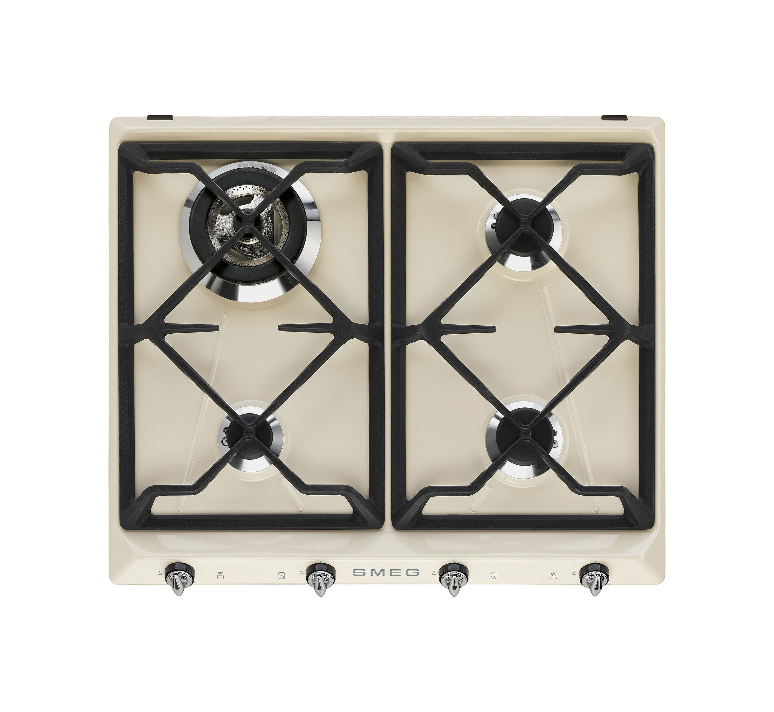 Smeg Victoria 60 Cream Gas Hob