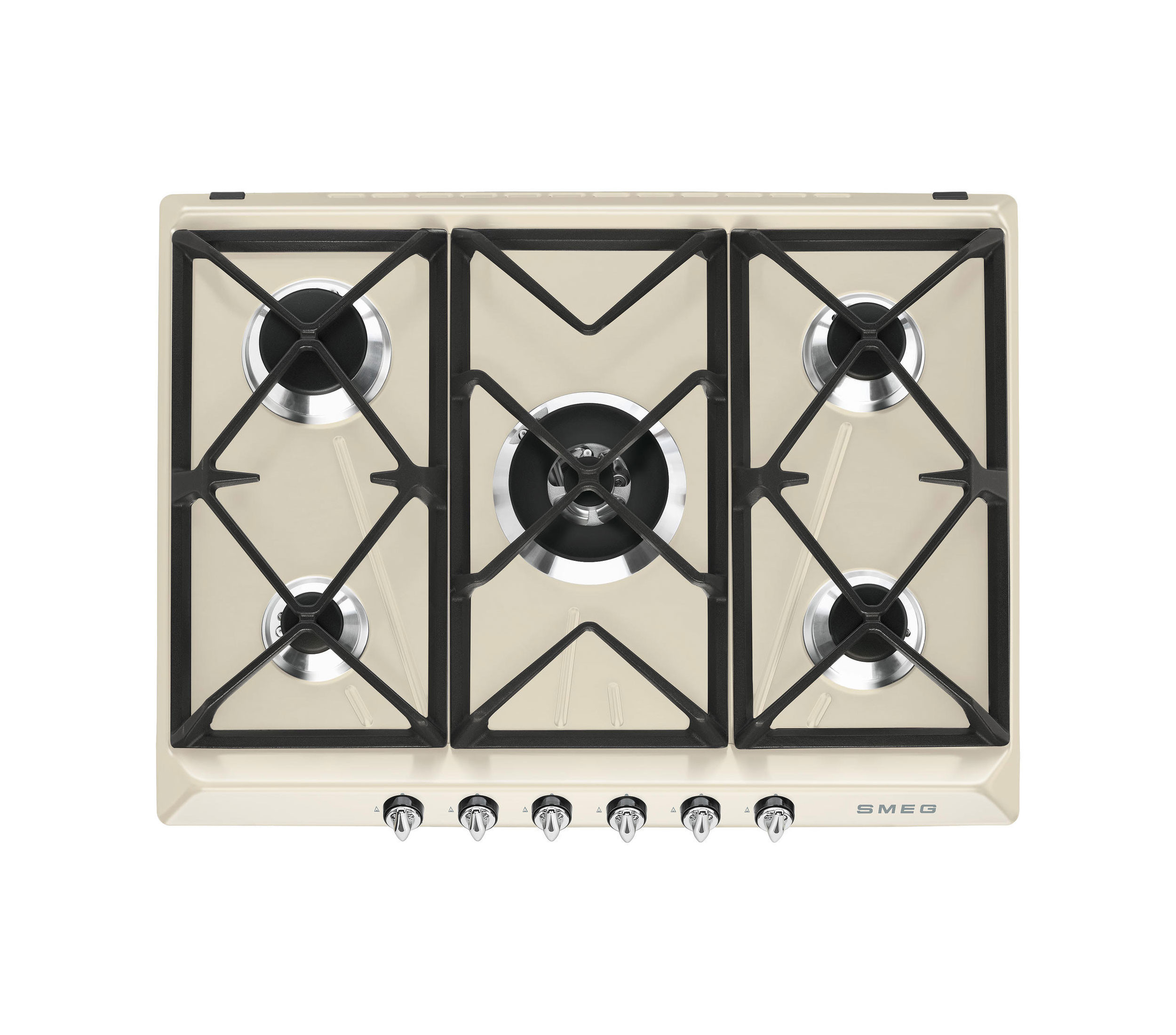 Smeg Victoria 70 Cream Gas Hob