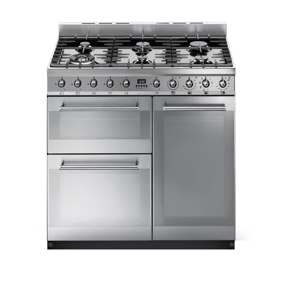 Smeg Symphony 90 Dual Fuel Stainless Steel Range Cooker