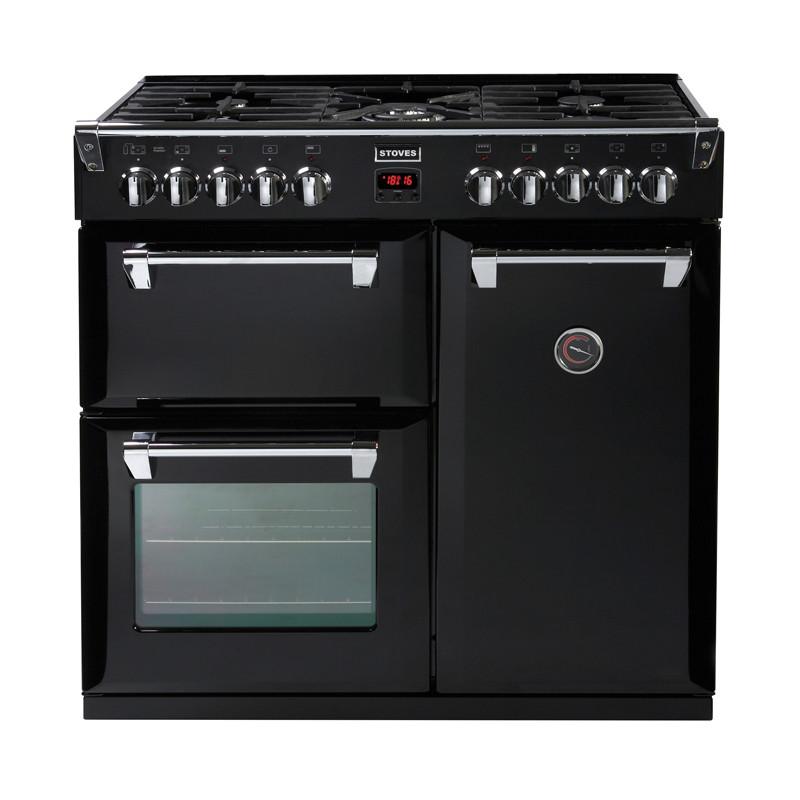Stoves Richmond 900DFT Black 90 Dual Fuel Range Cooker