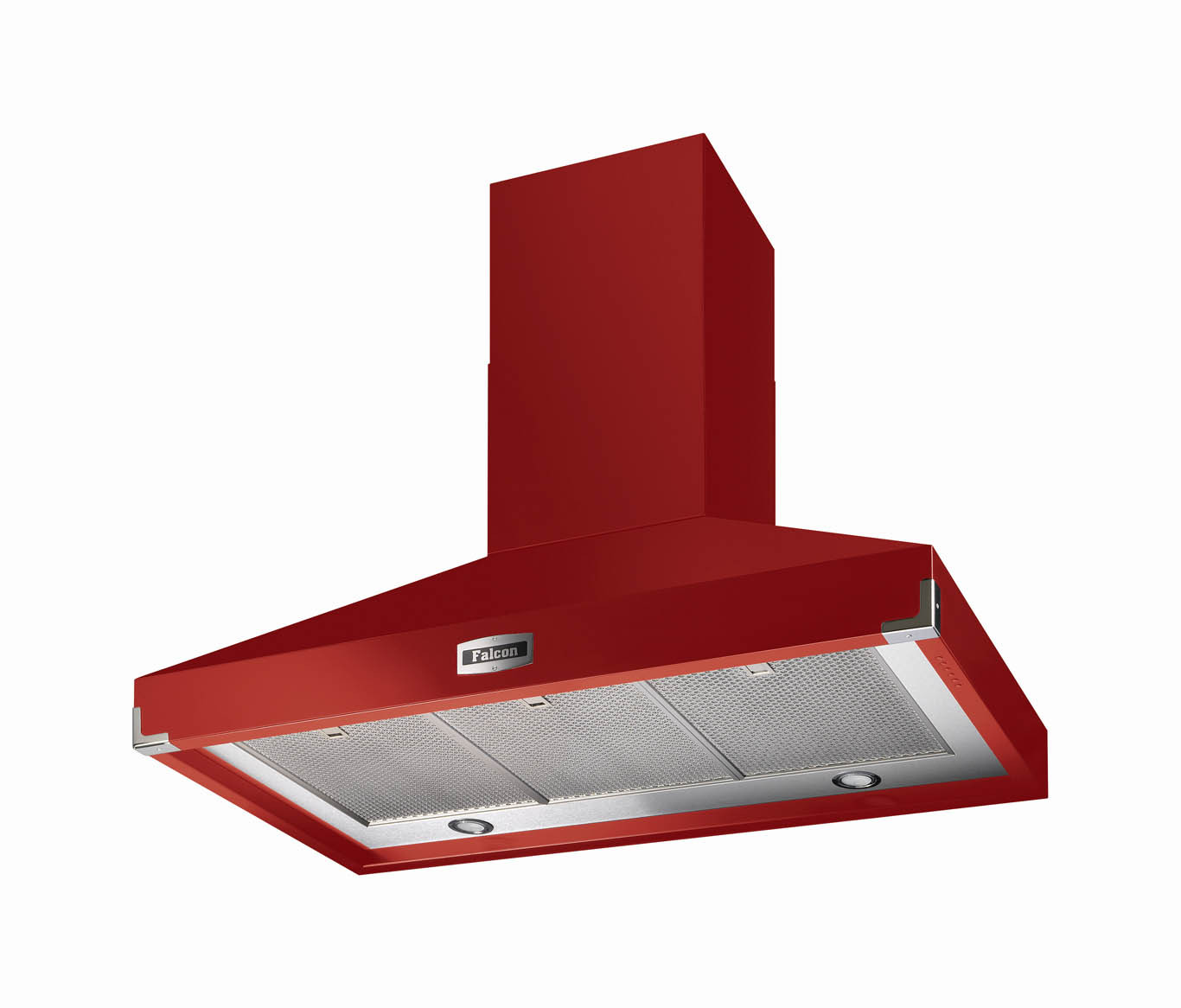 Falcon 1092 Super Extract Cooker Hood Cherry Red/Chrome