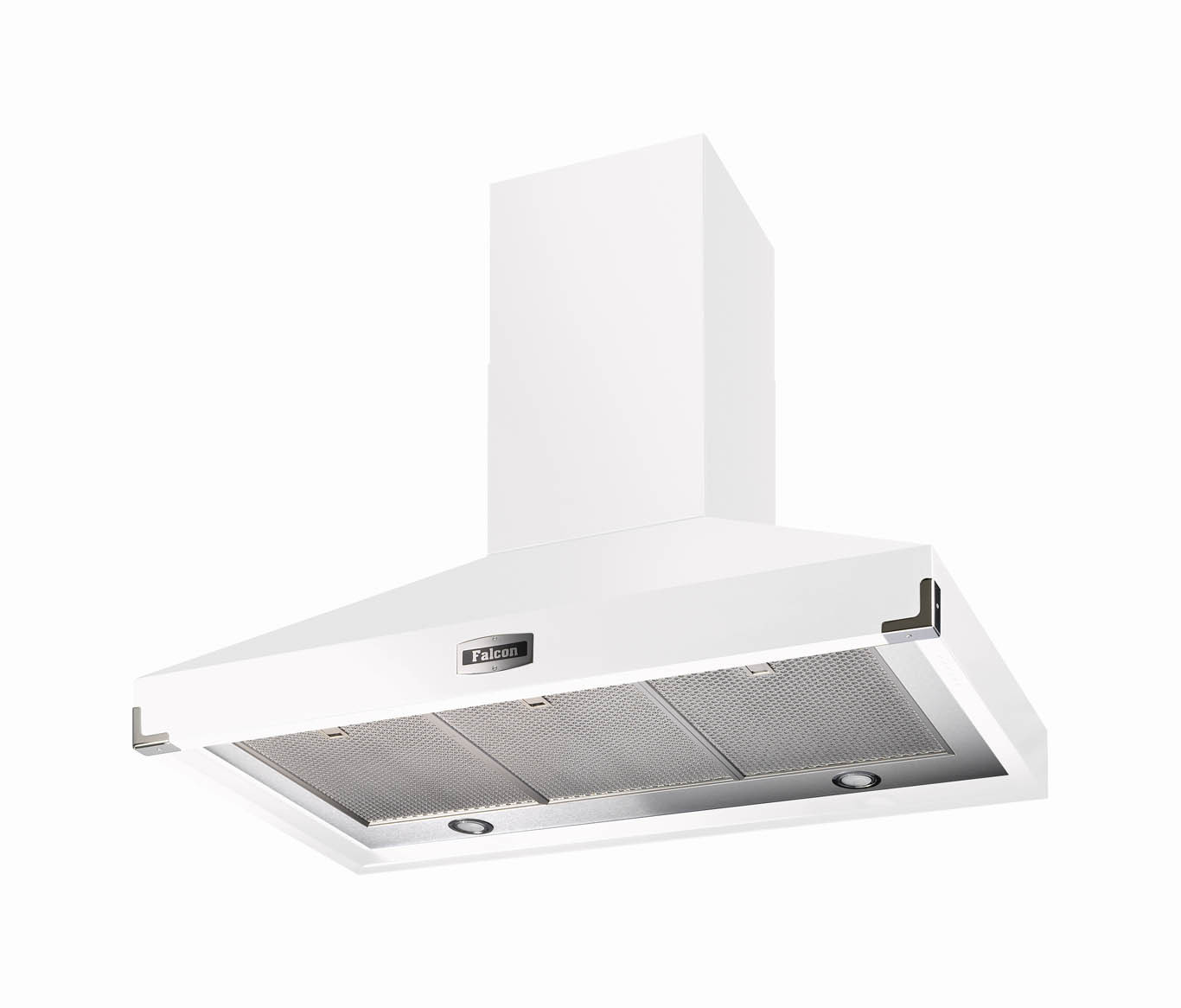Falcon 900 Super Extract White Nickel Cooker Hood