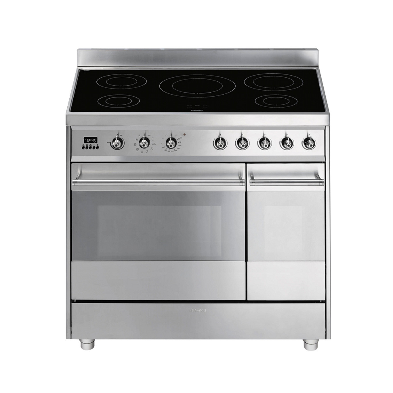 Smeg Symphony 90 Induction Pyrolytic Stainless Steel Range Cooker