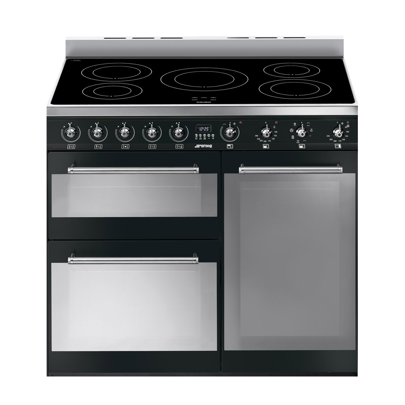 Smeg Symphony 90 Induction Black Range Cooker