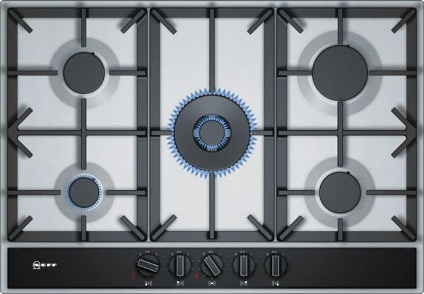 Neff N70 75cm Stainless Steel Gas Hob T27DA69N0