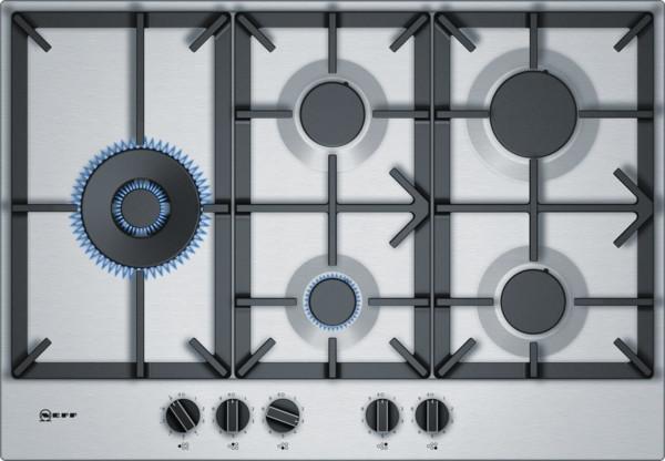 Neff N70 75cm Stainless Steel Gas Hob T27DS79N0