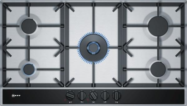 Neff N70 90cm Stainless Steel Gas Hob T29DA69N0