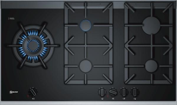 Neff N90 90cm Black Ceramic Glass Gas Hob T29TA79N0