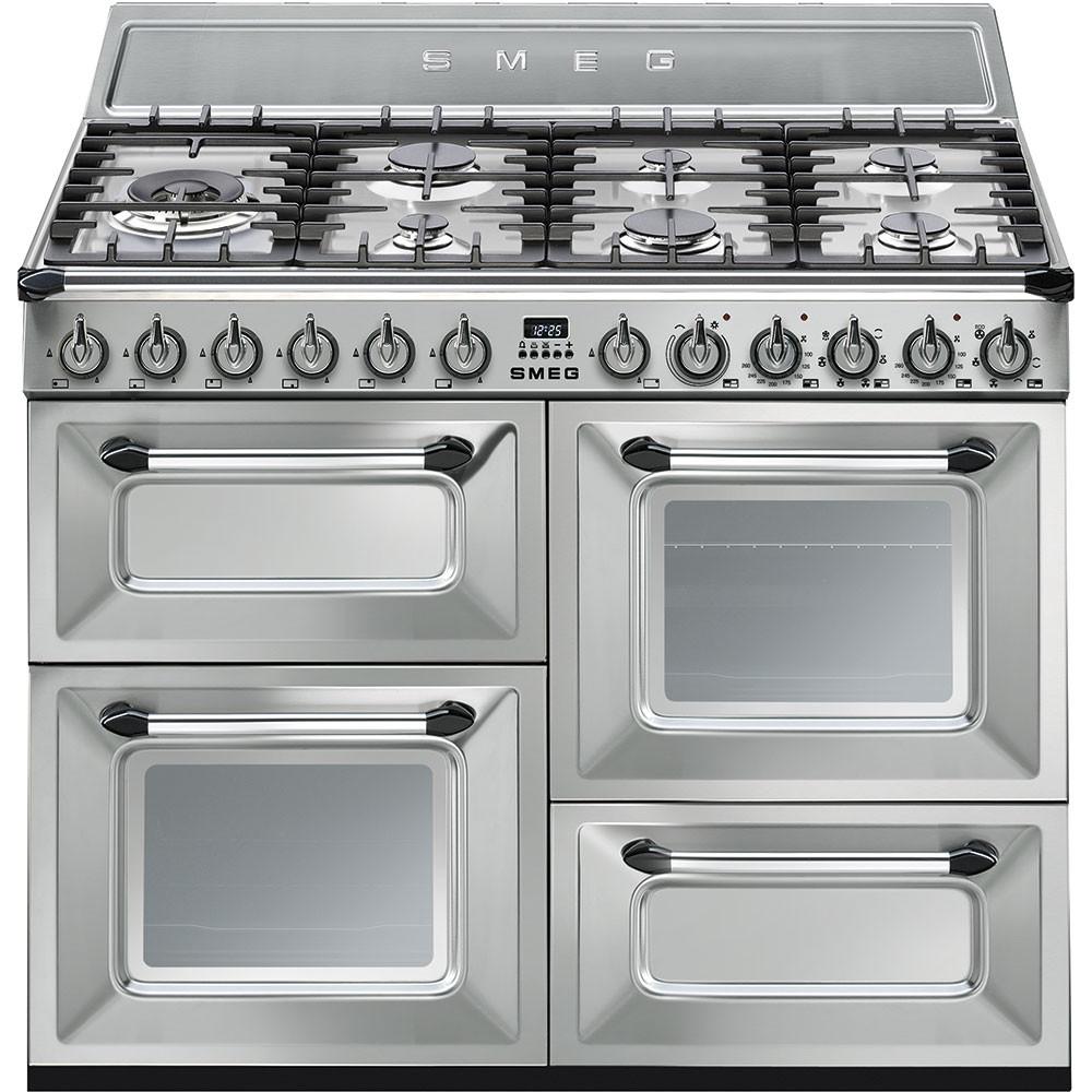 Buy smeg victoria 110cm stainless steel dual fuel range cooker tr4110x - Cucine sme prezzi ...