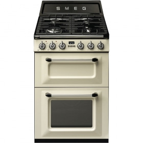Smeg 60cm Two Cavity Traditional Victoria Cream Dual Fuel Cooker TR62P