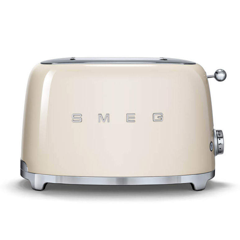 buy smeg 50 39 s retro style cream two slice toaster tsf01cruk. Black Bedroom Furniture Sets. Home Design Ideas