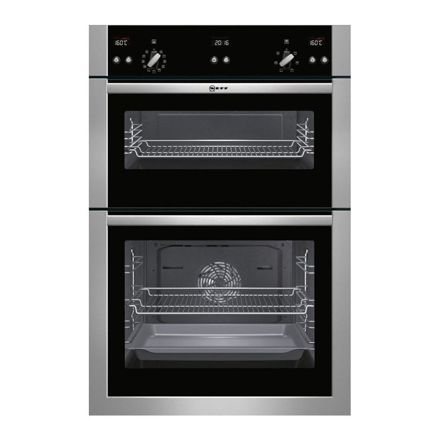 Neff U15E52N5GB Stainless Steel Electric Integrated (Built-In) Double Oven