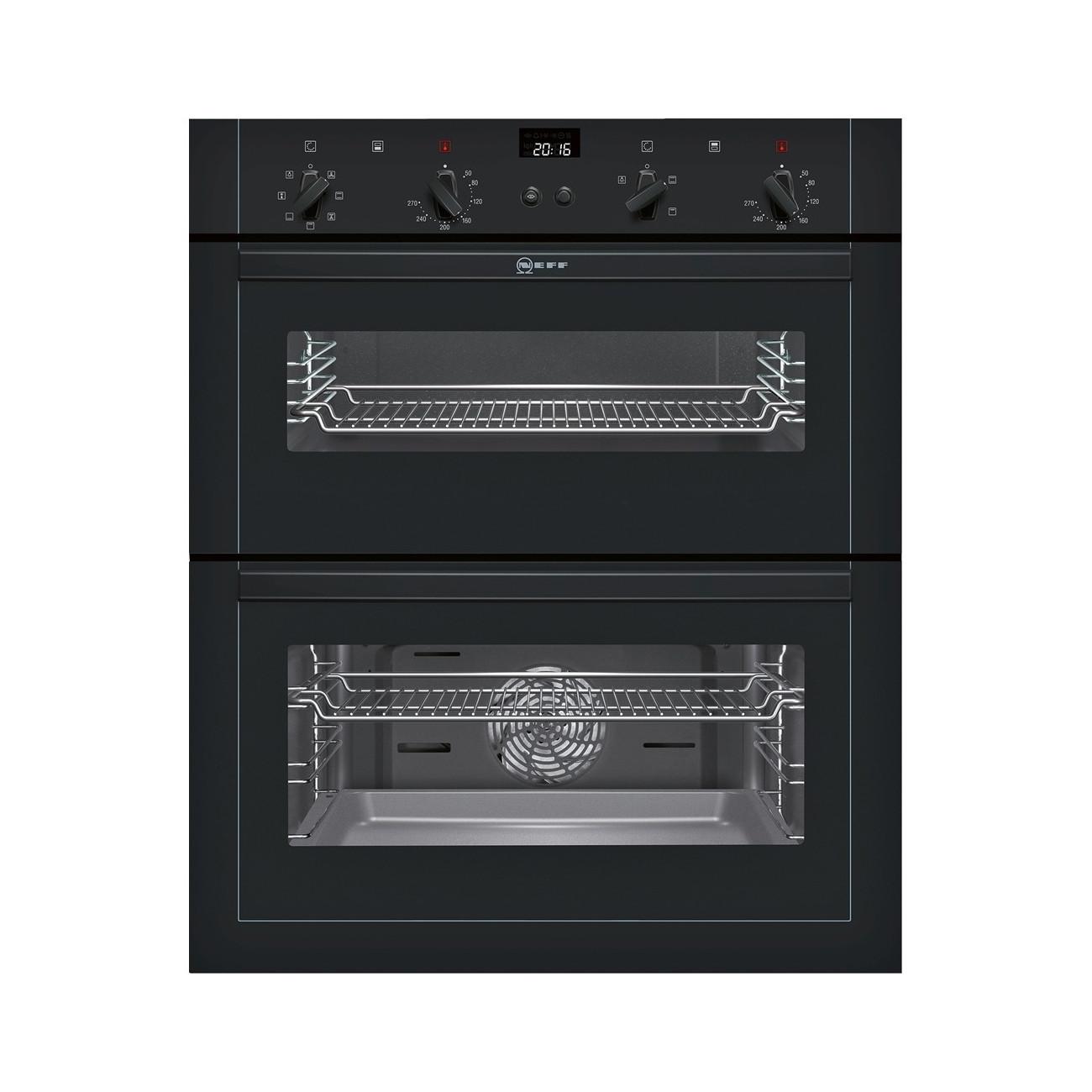 Neff U17M42S5GB Black Built-Under Double Oven