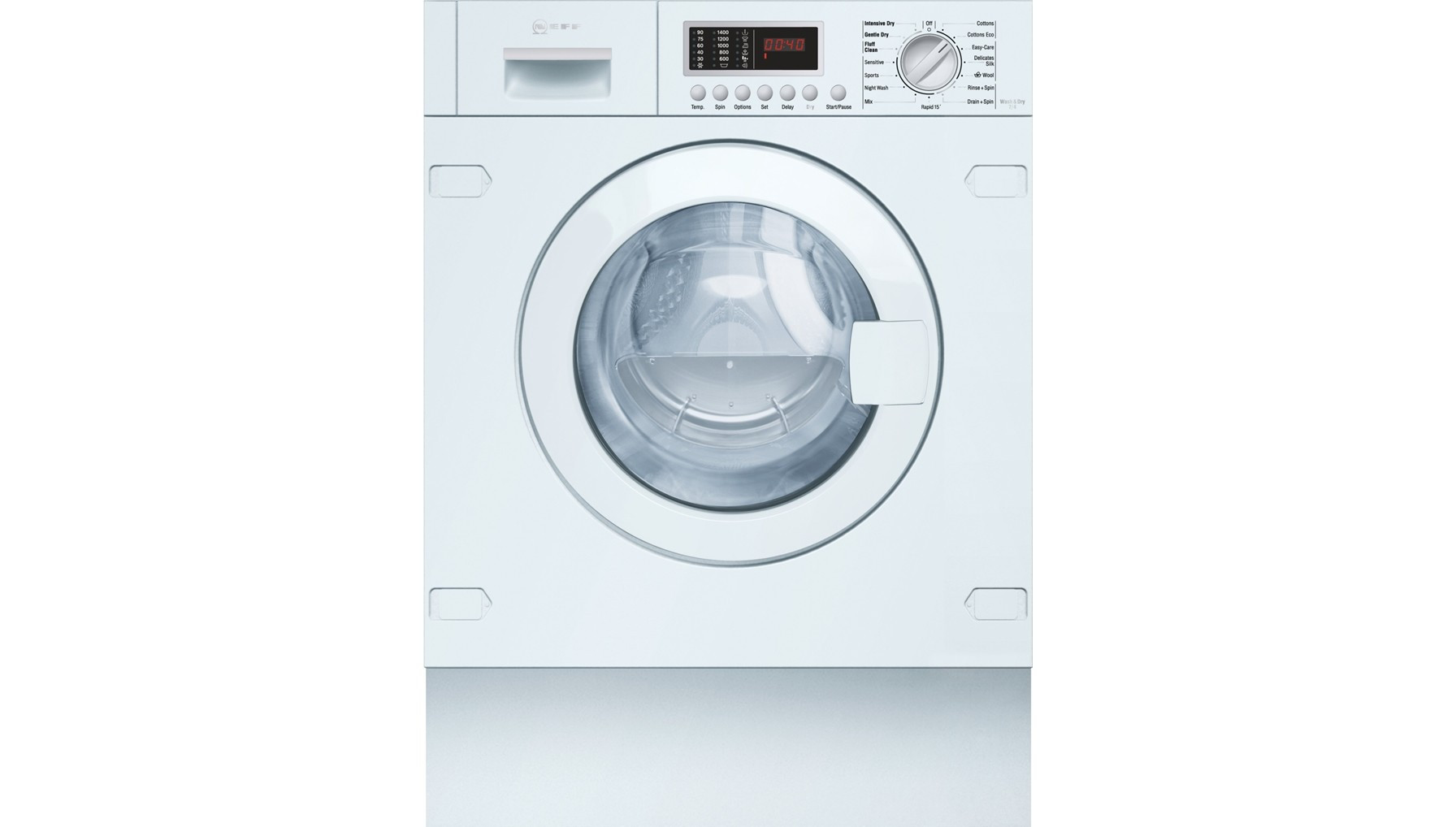 Neff White Integrated (Built-In) Automatic 7kg B Rated Washer Dryer V6540X1GB