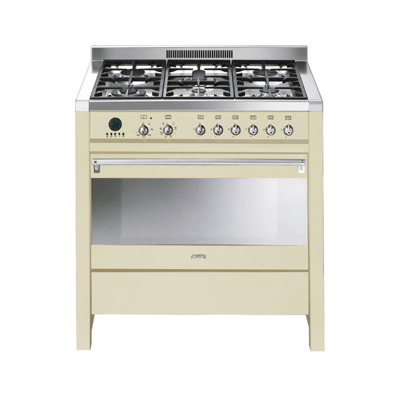 Smeg Opera 90 Dual Fuel Cream Range Cooker