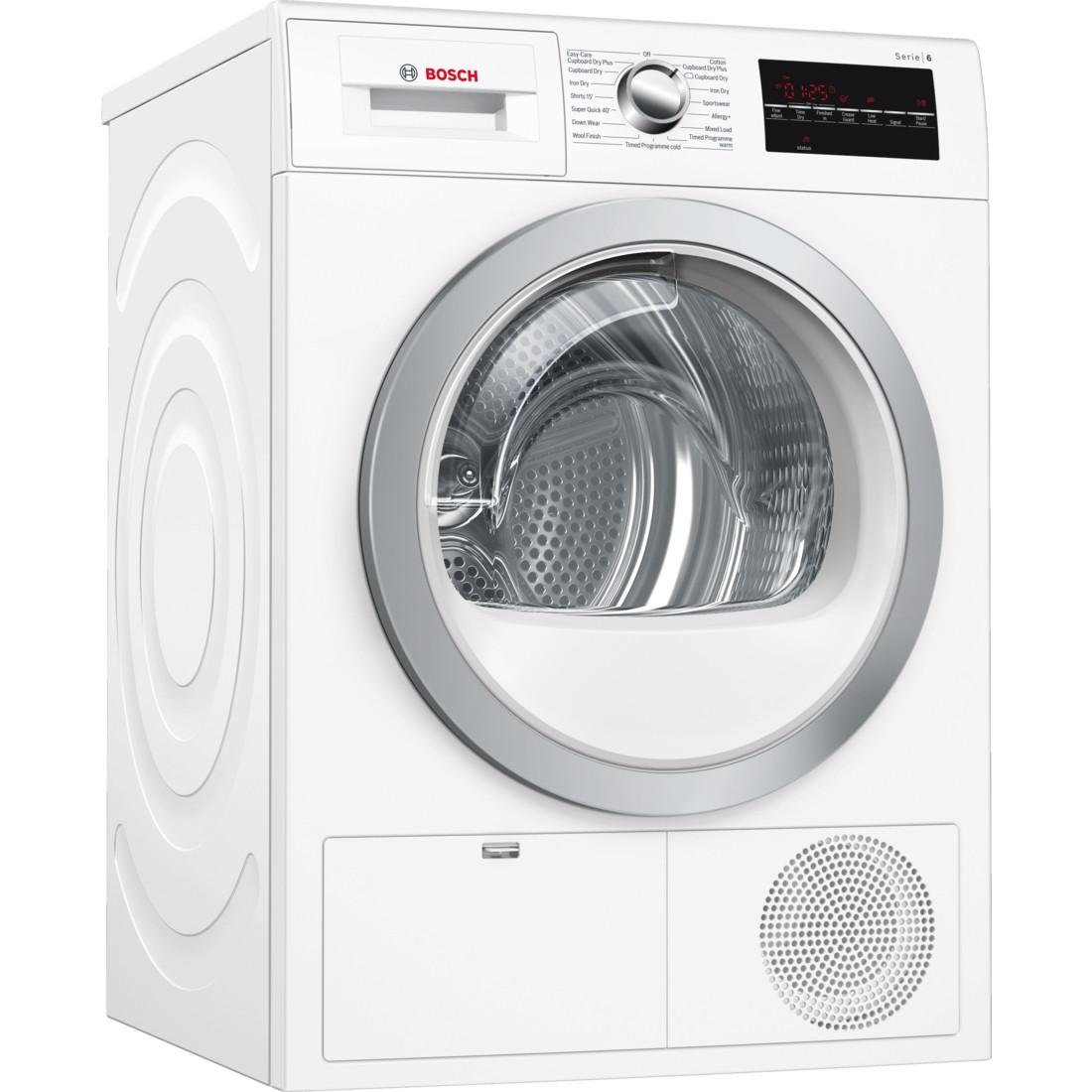 Bosch Serie 6 WTG86402GB Freestanding White Condenser 8kg B Rated Tumble Dryer