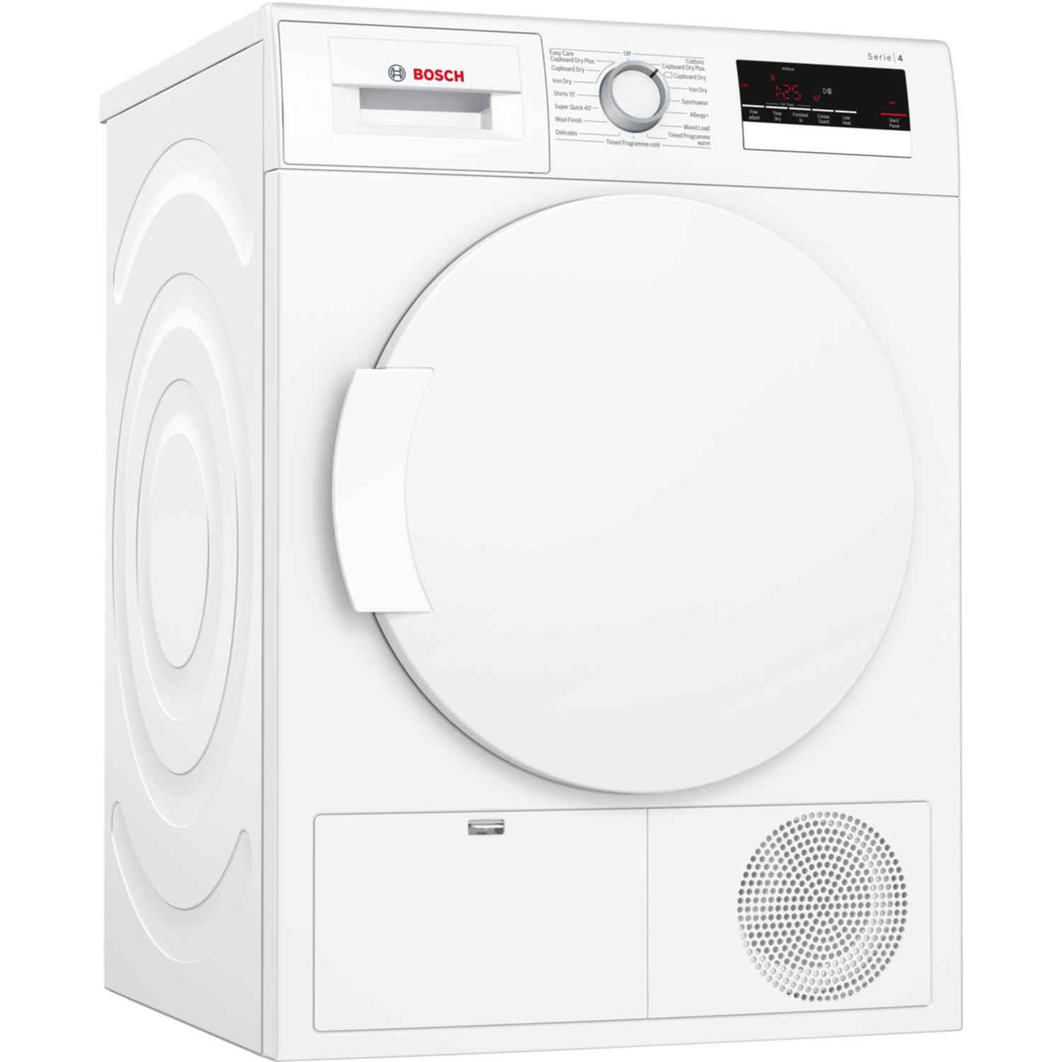 Bosch Serie 4 WTN83200GB Freestanding White Condenser Tumble Dryer