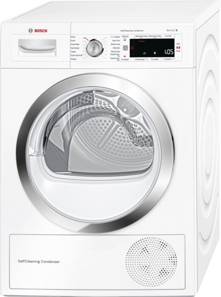 Bosch Serie 8 WTW87560GB Freestanding White Condenser 9kg A++ Rated Tumble Dryer