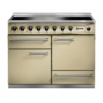 Falcon 1092 Deluxe Induction Cream/Brass Range Cooker