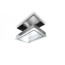 Faber SkyLift 90cm White Glass Ceiling Hood