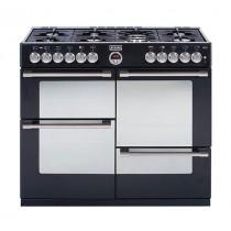 Stoves Sterling 1100DFT Black 110 Dual Fuel Range Cooker