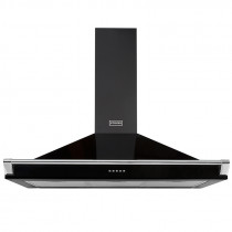 Stoves 110 Black Richmond Chimney Hood With Rail