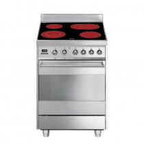Smeg Symphony 60 Ceramic Stainless Steel Pyrolytic Range Cooker